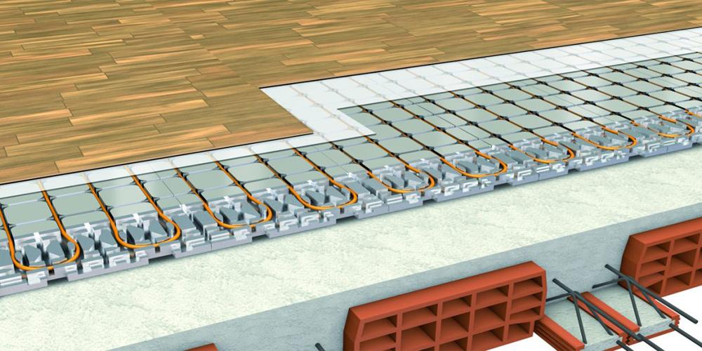 impianto radiante a secco